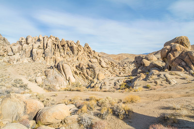 HDR Composition. Alabama Hills. Eastern Sierras. Inyo County, CA, USA