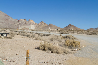 School (Left), Cook Bank Building (Middle), Rhyolite Ghost Casino (Right). Rhyolite Ghost Town - Rhyolite, NV