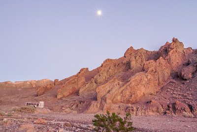 Moon. Furnace Creek. Death Valley National Park