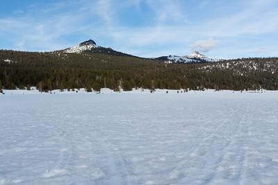 Pickett Peak (center) & Hawkins Peak (right). Hope Valley. Near Hope Valley Sno-Park. Humboldt-Toiyabe National Forest, CA, USA