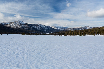 Freel Peak, Jobs Sister, and Jobs Peak. Hope Valley. Near Hope Valley Sno-Park. Humboldt-Toiyabe National Forest, CA, USA