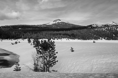 Pickett Peak (center) & Hawkins Peak (right). Near Blue Lakes Road. Hope Valley. Near Hope Valley Sno-Park. Humboldt-Toiyabe National Forest, CA, USA