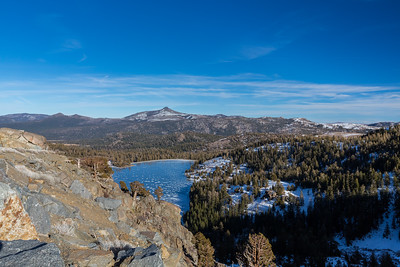Pickett Peak (left) & Hawkins Peak (center). Red Lake. Humboldt-Toiyabe National Forest, CA, USA