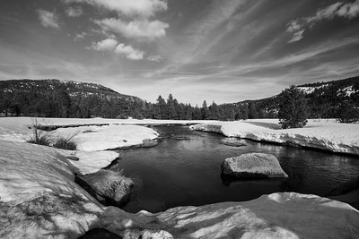 West Fork Carson River. Near Picketts Junction at Intersection of SR-88 & SR-89. Humboldt-Toiyabe National Forest, CA, USA