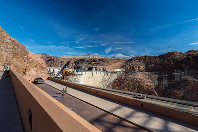 Parking Complex at Hoover Dam Mercantile. Hoover Dam. Nevada Side. Lake Mead National Recreation Area - NV, AZ