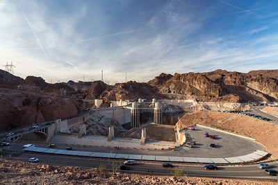 Hoover Dam. Kingman Wash Access Road. Arizona Side. Lake Mead National Recreation Area - NV, AZ
