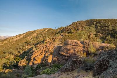 HDR Composition. Rim Trail. Pinnacles National Park, CA, USA