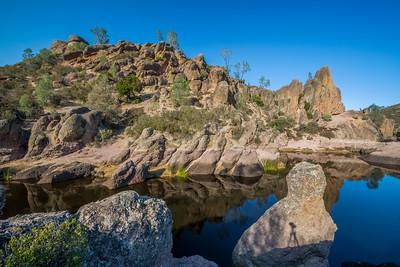 HDR Composition. Bear Gulch Reservoir. Pinnacles National Park, CA, USA