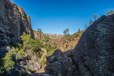 HDR Composition. Opening Between Cave Chambers. Bear Gulch Cave. Pinnacles National Park, CA, USA