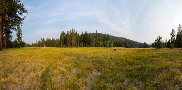 Panorama. Sunset. Princess Campground - Sequoia National Forest, CA, USA
