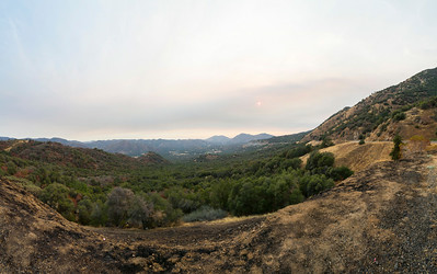 Panorama. Sunset. SR-180 - Dunlap, CA, USA