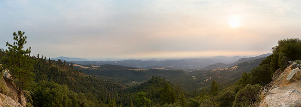 Panorama. Sunset. SR-180 - Sequoia National Forest, CA, USA