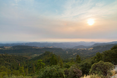 Sunset. SR-180 - Sequoia National Forest, CA, USA