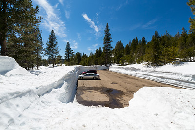 Parking Lot. Near SR-4. Stanislaus National Forest, CA, USA