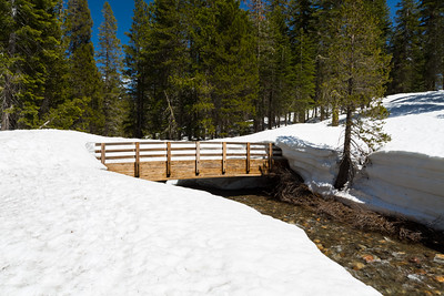 Bridge. Lake Alpine East Shore. Stanislaus National Forest, CA, USA