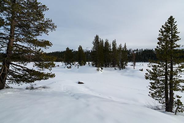 Lake Alpine & Inspiration Point. SR-4 (Winter Trail). Stanislaus National Forest, CA, USA