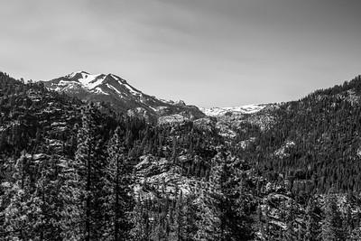 Molo Mountain & Black Hawk Mountain. Near SR-108. Stanislaus National Forest, CA, USA
