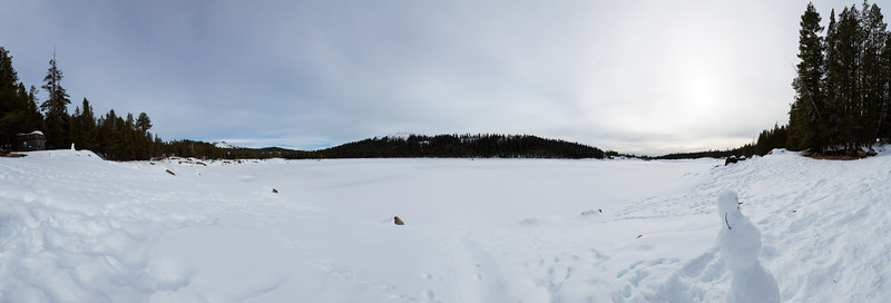 Panorama. Lake Alpine & Inspiration Point. SR-4 (Winter Trail). Stanislaus National Forest, CA, USA