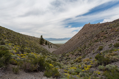 Crater & Mono Lake (in the distance). Panum Crater. Mono-Inyo Craters. Inyo National Forest, CA, USA