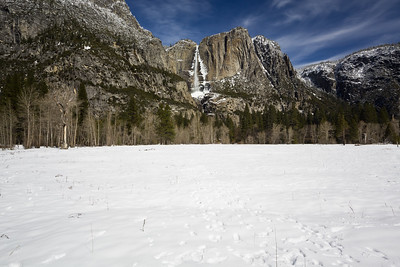 Upper Yosemite Fall. Near Swinging Bridge. Yosemite National Park, CA, USA