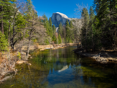 Half Dome & Merced River. Sentinel Bridge. Yosemite National Park, CA, USA