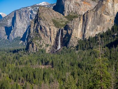 Bridalveil Fall. Tunnel View. Yosemite National Park, CA, USA