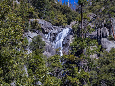 Cascade Falls. Big Oak Flat Road. Yosemite National Park, CA, USA