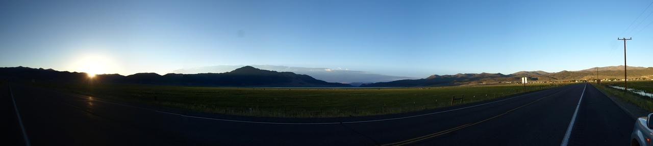 On the way to Mono Lake