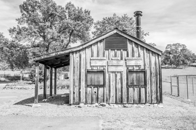 Old Blacksmith Shop. Catheys Valley Park - Catheys Valley, CA, USA - Route to Yosemite National Park