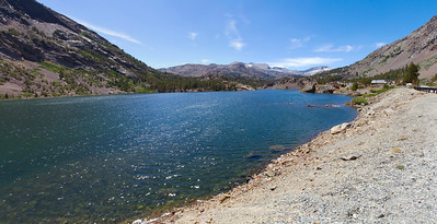 Panorama. Ellery Lake - Yosemite National Park - California, USA