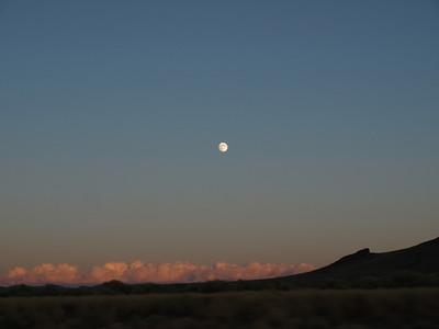 Moon. Driving to Salt Lake City, Utah from SF Bay Area.
