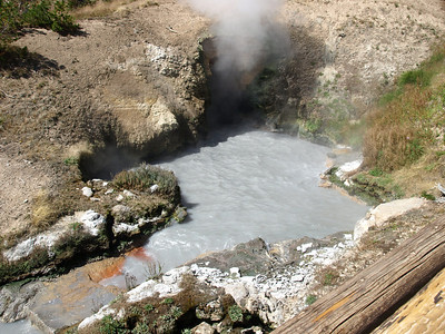 Dragon's Mouth Spring. Yellowstone National Park