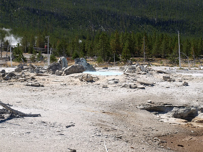 Porkchop Geyser. Norris Geyser Basin - Yellowstone National Park