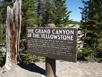 Grand Canyon of the Yellowstone. Yellowstone National Park