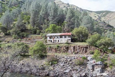 Abandoned Buildings. Stanislaus National Forest - CA, USA - Route to Yosemite National Park