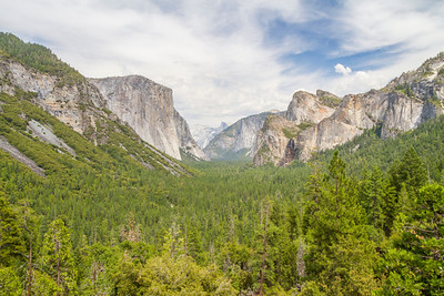HDR Composition. Tunnel View - Yosemite National Park - California, USA