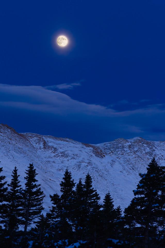 Moonrise over Loveland Pass