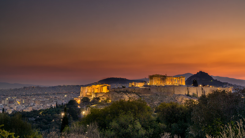 The Acropolis from Filopappos Hill, Athens