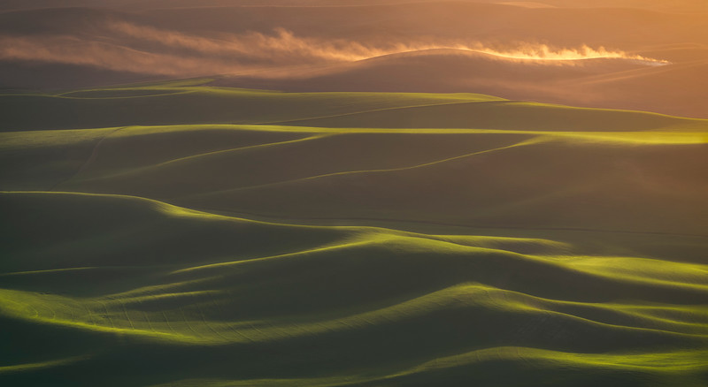 Sunset on the Palouse Hills