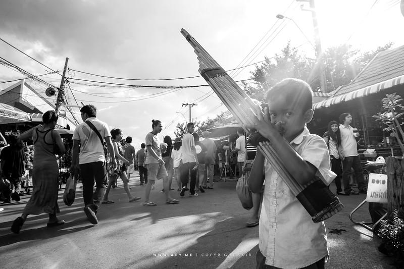 Young Street Musician at Chatuchak Weekend Market