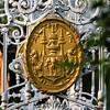 The Emblem of King Rama V at the gate of Saranrom Royal Garden