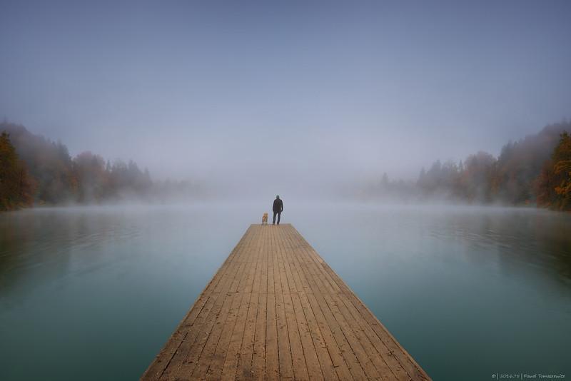 2016.75 - Slovenia II - LakeBledMistManAndDog