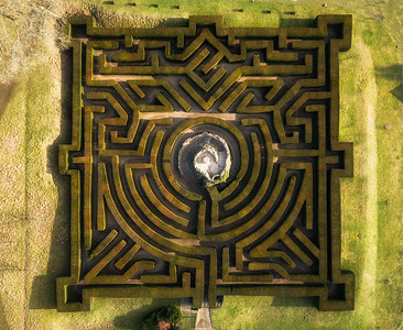 Hedge Maze, Leeds Castle, Kent, UK