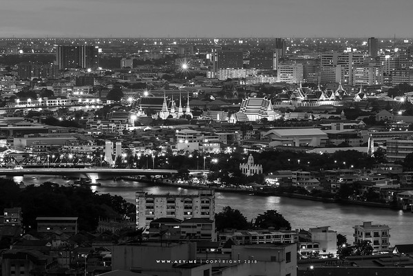 Bangkok Cityscape view from the Millennium Hilton Hotel