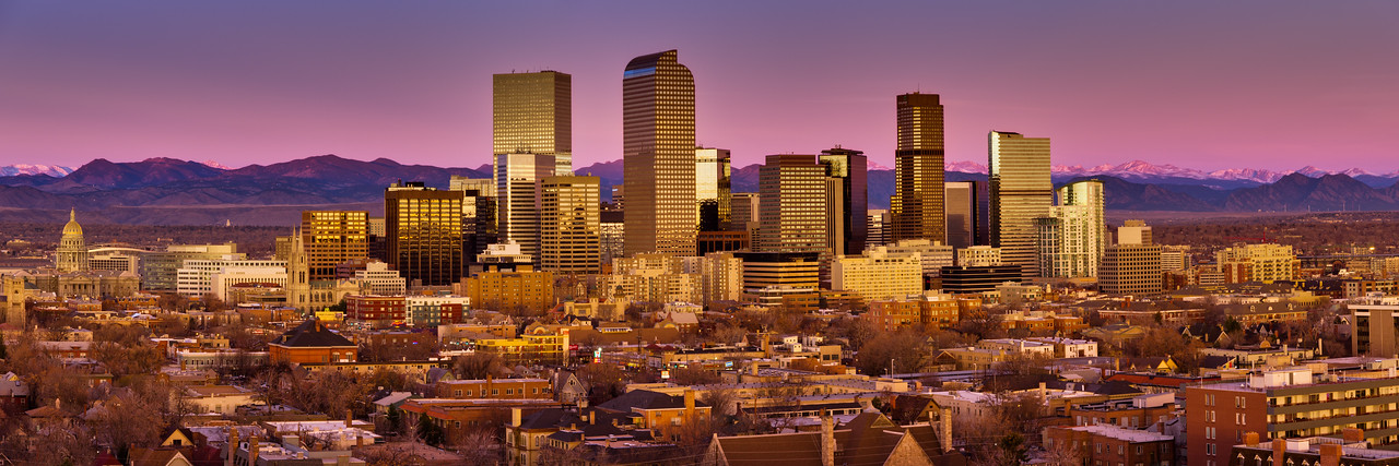 Denver Skyline Sunrise