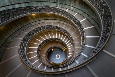 Down the Bramante Steps, Vatican City