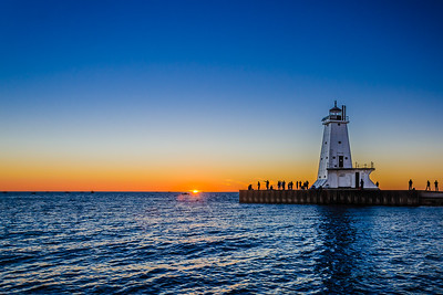 Sundown at Ludington