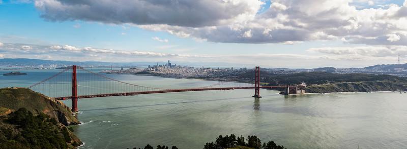 Golden Gate Bridge, Marin Headlands, California