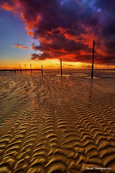 8.2013 - Snadbanks Pier Sunset