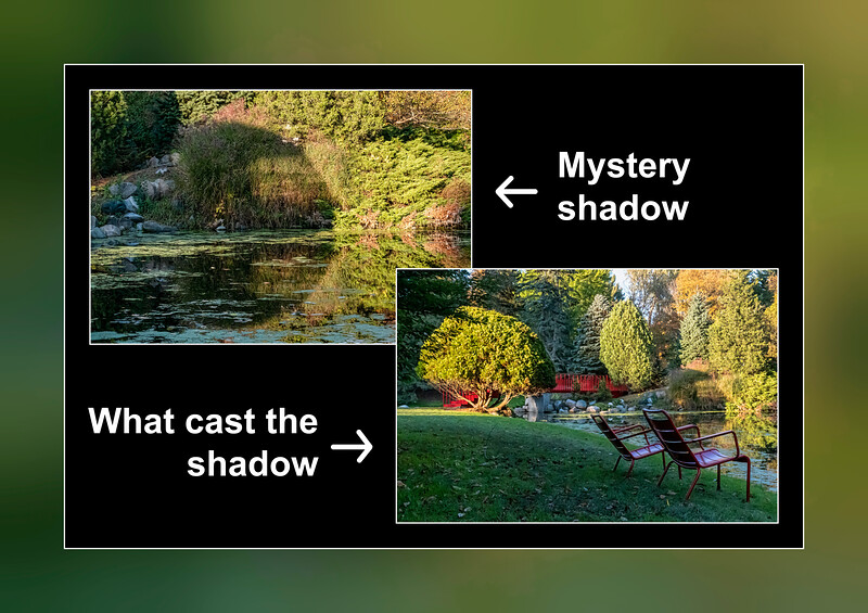A strange shadow and its source